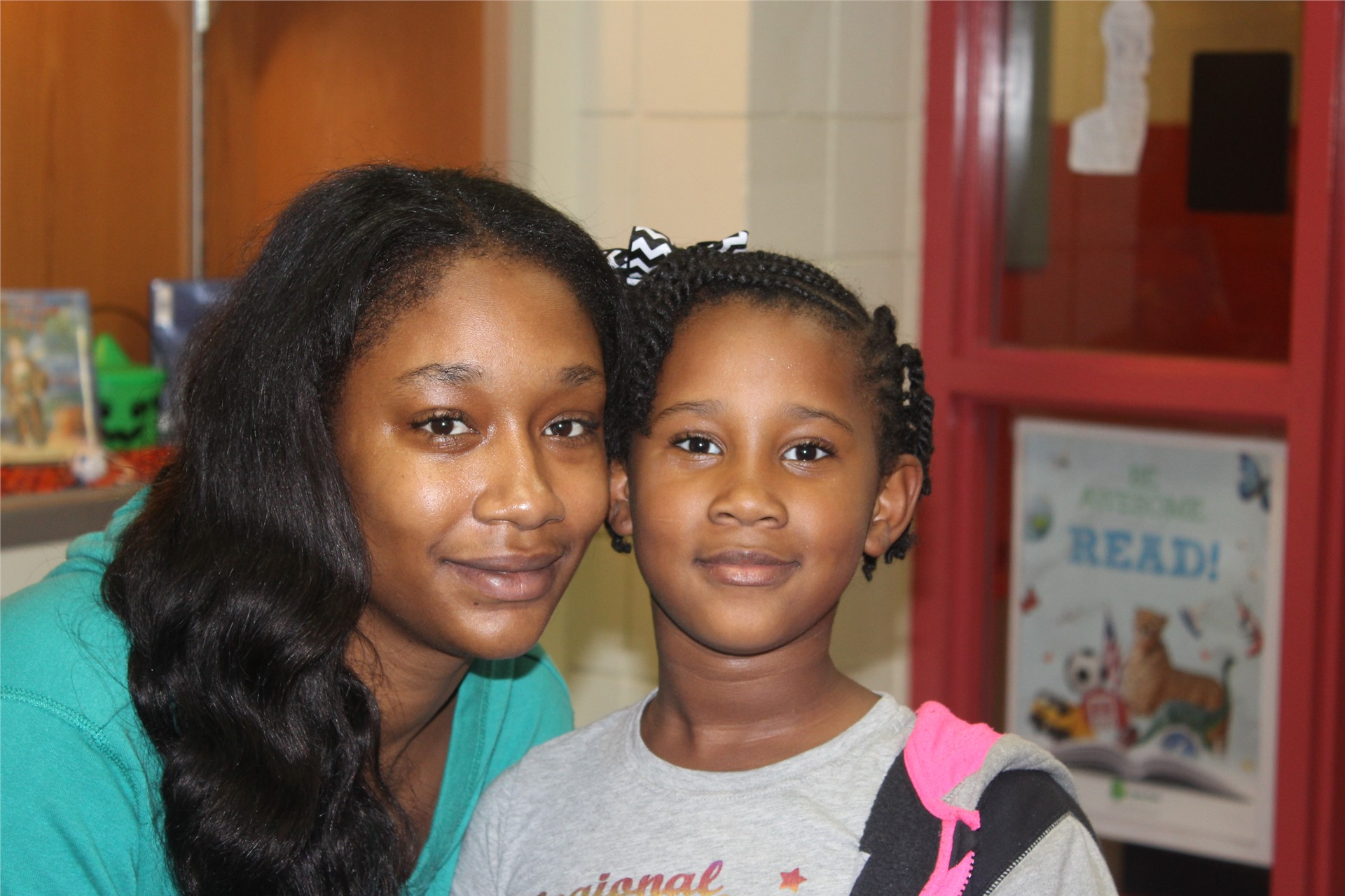 Miss Lay and her daughter came to FLN.
