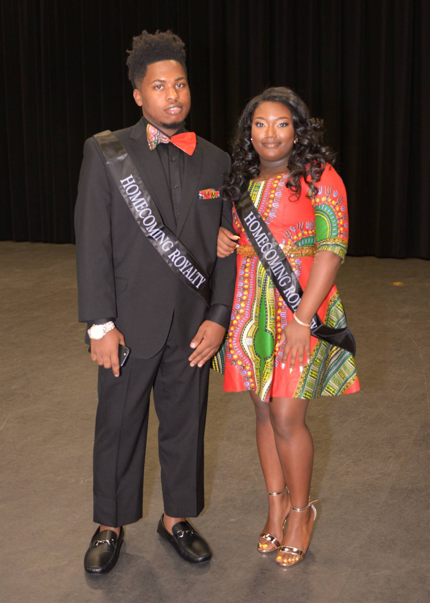 Homecoming Caniyah and Jumar backstage