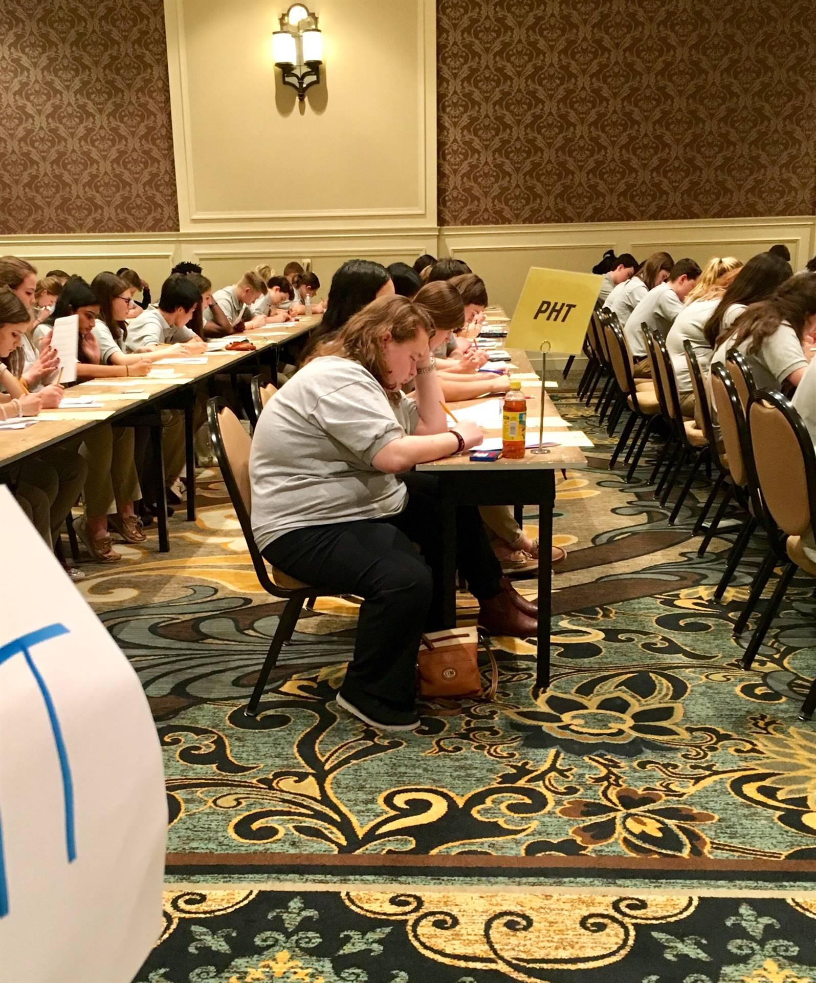 DECA Students Testing