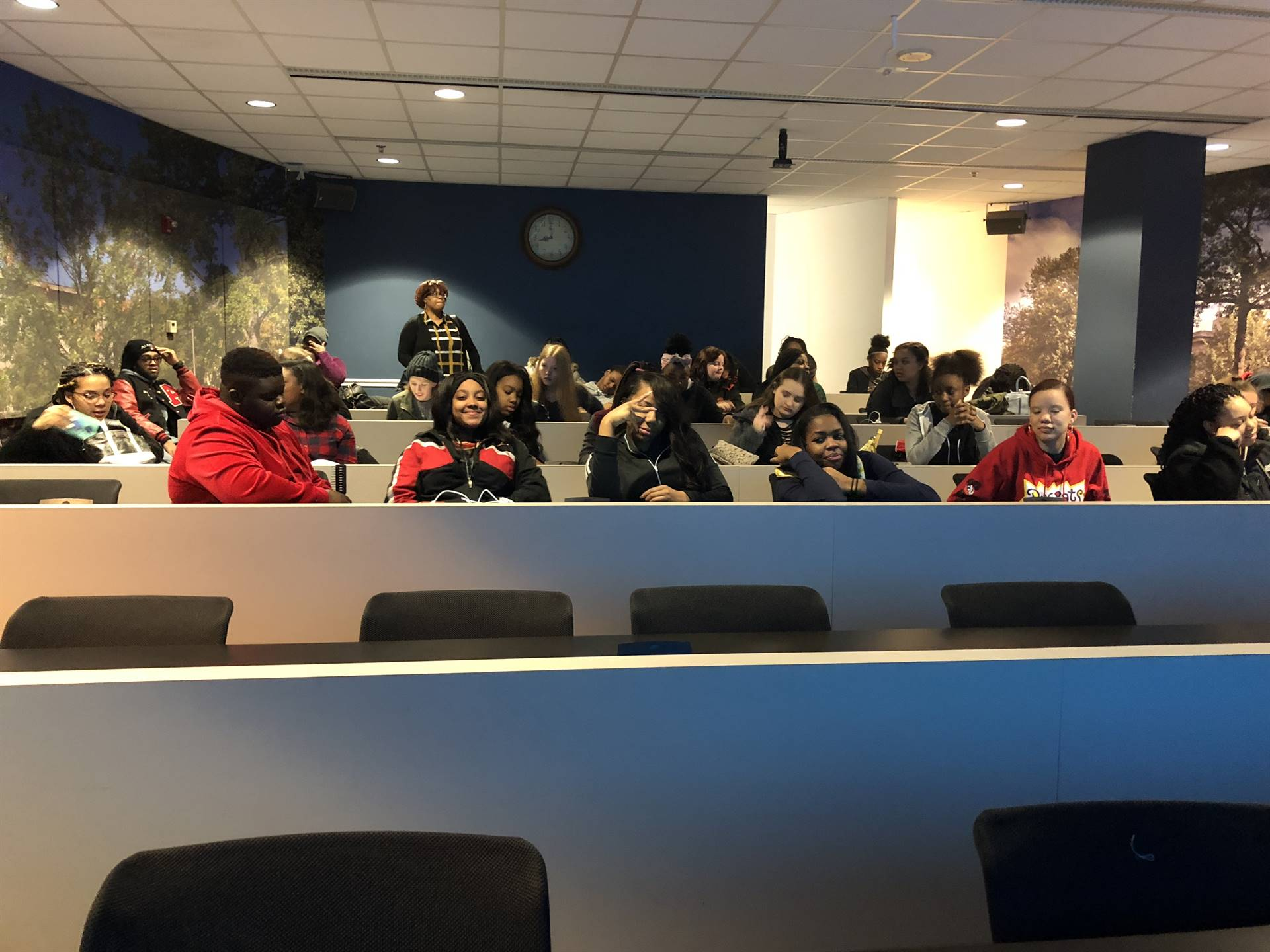 Students in the classroom at American University