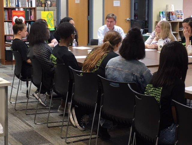 student youth ambassadors meet with Congressman Keith Rothfus